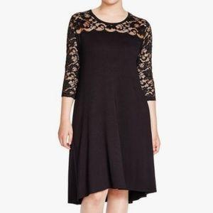 Karen Kane Plus Size Lace Yoke Dress